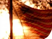 High Speed Camera USA Flag Sunset 28 Slow Motion Loop Stock Footage
