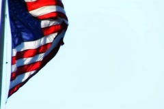 High Speed Camera USA Flags 27 Slow Motion Loop - stock footage