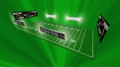 Football field match up background greenlight Stock Footage