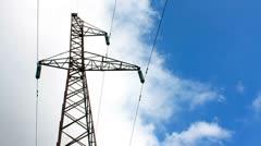 Stock Video Footage of Electricity Pylon, timelapse