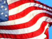 High Speed Camera USA Flags 33 Slow Motion Loop Stock Footage