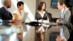 Successful Multi Ethnic Team of Business Advisors Stock Footage