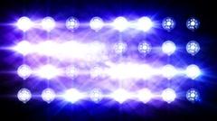 Floodlights flash Stock Footage