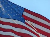 High Speed Camera USA Flags 44 Slow Motion Loop Stock Footage