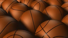 Lots of Basketballs Stock Footage