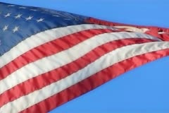 High Speed Camera USA Flags 46 Slow Motion Loop - stock footage