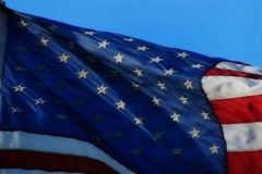 High Speed Camera USA Flags 60 Slow Motion Loop - stock footage
