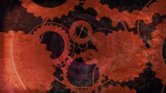 Textured Gears Looping Animated Background Stock Footage