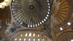 Aya Sofia interior Stock Footage