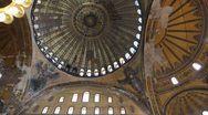 Stock Video Footage of Aya Sofia interior