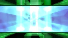 Blue Green Geo Abstract Looping Animated Background Stock Footage