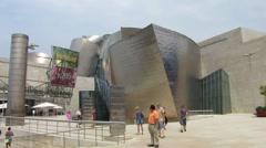 HD: Guggenheim Museum Bilbao - Front - stock footage