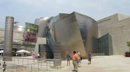 Stock Video Footage of HD: Guggenheim Museum Bilbao - Front