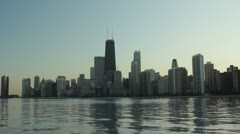 Chicago skyline from North Ave Beach 4 Stock Footage