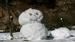 Christmas Snowman Stock Footage