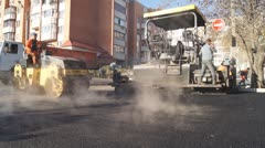 Laying of asphalt. Stock Footage