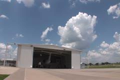 Hangar wide NTSC Stock Footage