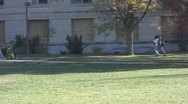 Stock Footage College Students in Fall - couple walking Stock Footage