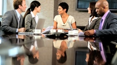 Successful Multi Ethnic Team of Business Advisors Stock Footage