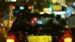 Rain on windscreen. Stock Footage
