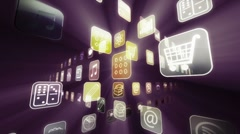 Spotlight on Mobile Apps HD - stock footage