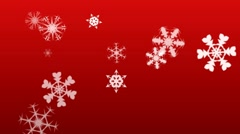 Holiday Snowflakes Stock Footage
