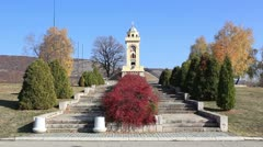 Monument on Čegar Hill (long shot) Stock Footage