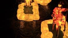 Korean traditional lanterns in Cheonggyecheon Lantern Festival Stock Footage