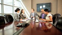 Modern Multi Ethnic Executive Business Team - stock footage
