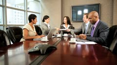 Modern Multi Ethnic Executive Business Team Stock Footage