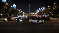Obelisk of Buenos Aires *Night* *Wide* Stock Footage