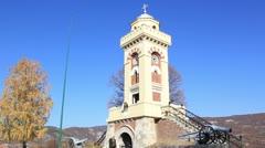 Monument on Čegar Hill _1 Stock Footage