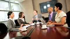 Multi Ethnic Executive Business Team Success Stock Footage