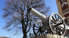 Close up of the cannon (Čegar Monument) Stock Footage
