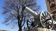 Stock Video Footage of Close up of the cannon (Čegar Monument)
