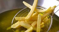 Stock Video Footage of Close up of cooking french fries