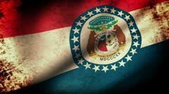 Missouri State lippu heiluttaa, grunge look Arkistovideo