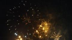 Firework Display 5 Stock Footage