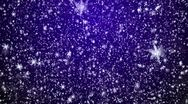 Stock Video Footage of Snowfall on darkly blue background