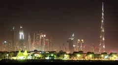 Timelapse 1080p: Sand storm in Dubai downtown. United Arab Emirates Stock Footage