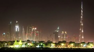Stock Video Footage of Timelapse 1080p: Sand storm in Dubai downtown. United Arab Emirates