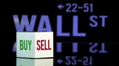 Wall st, Bye sell Stock Footage
