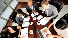 Business Executive Team Building in Boardroom Meeting - stock footage