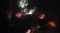 Firework Display 9 Stock Footage