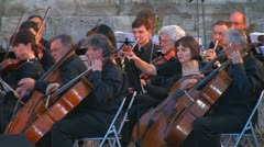 Stock Video Footage of Сlassical symphony orchestra.