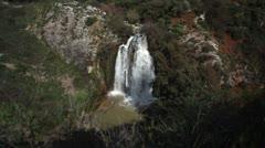 Tahana waterfall in Israel. Stock Footage