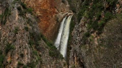 the top of Iyon Tanur waterfall in Israel. - stock footage
