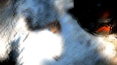 Small hermit crab walking on rocks Stock Footage