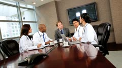 Multi Ethnic Medical Executives in Boardroom Stock Footage