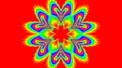 Rotating color flower (pattern) Stock Footage